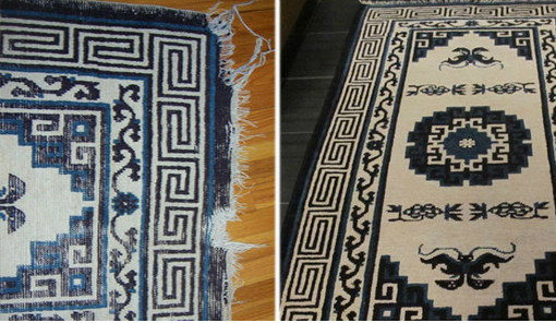 before & after rug repair by Rug Cleaning NYC
