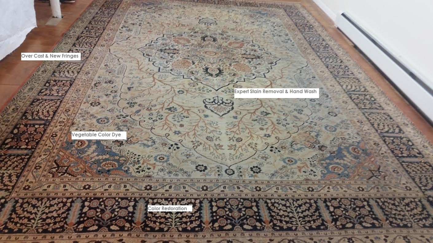 Tabriz Rug After